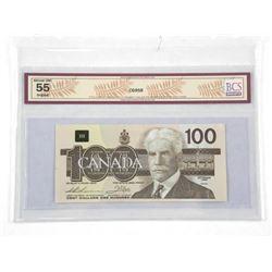 Bank of Canada 1988 - 100.00 AU55. Original. BCS