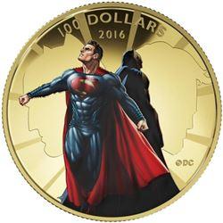 "Batman v Superman ""Dawn of Justice"" 14kt Gold Co"