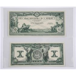 Canadian Bank of Commerce '1917' 10.00 2 Note Set