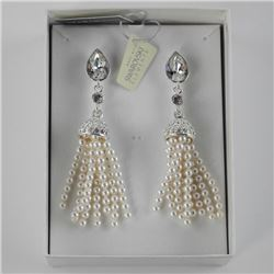 MM - Custom Design Earring, Pear Cut Swarovski ele