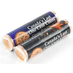 Lot (2) Rolls Canada's Last Copper Plated Steel On