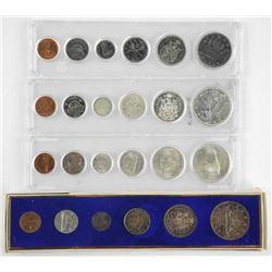Lot (4) Canada Year Sets: 1965, 1966, 1967, 1983Â