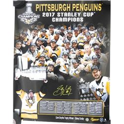 Stanley Cup 2017 - Photo Signed Sidney Crosby with