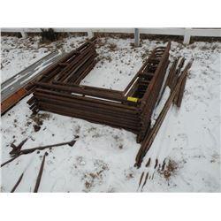 Qty of scaffolding, 10 uprights & braces
