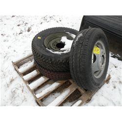 Qty 3 tires & rims