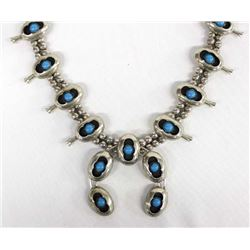 Navajo German Silver Squash Blossom Necklace