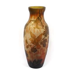 Large Beautiful Emile Galle Cameo Glass Vase