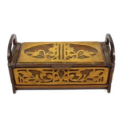 Art Deco Carved Wood Box