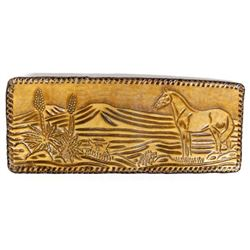 Vintage Tooled Western Leather Wallet