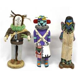3 Native American Hopi Kachinas