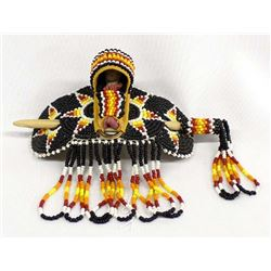 Native American Apache Beaded Ponytail Holder