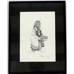 Original 1996 Pen and Ink Drawing by Michaelis Burnham