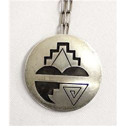 Hopi Sterling Silver Pendant Necklace