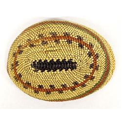 Northwest Coast Nootka Basket Covered Abalone Shel