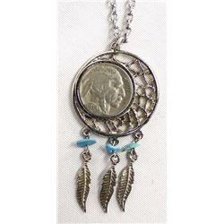 Southwestern Buffalo Nickel Pendant Necklace