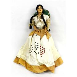 Vintage Mexican Munecos Carselle Senorita Doll