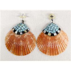 Santo Domingo Overlay Shell Earrings