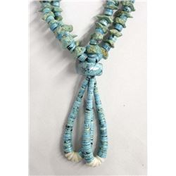 Large Navajo 2 Strand Turquoise Nugget Necklace