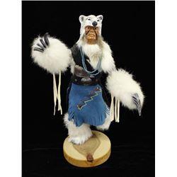 White Bear Warrior Kachina by P.C. Whitehorse