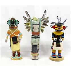 3 Native American Hopi Kachinas