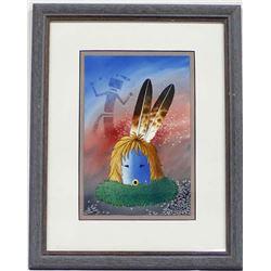 Original Navajo Watercolor Painting by R. Yazzie