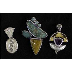 3 Sterling Silver Pendants