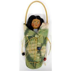 Rare Vintage Looking Right Hanging Skookum Doll