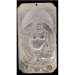 Antique Chinese Buddha Silver Bullion Bar