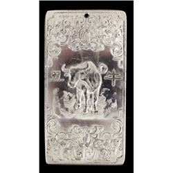 Vintage Chinese Calendar Year of the Ox Silver Bar