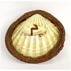 Beautiful Seminole Double Scallop Shell Basket