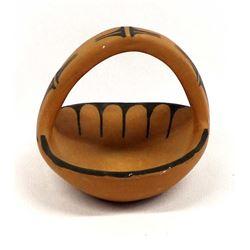 Native American Santo Domingo Pottery Basket
