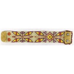 Vintage Native American Sioux Beaded Bracelet