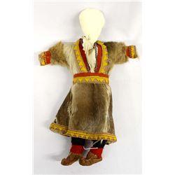 Vintage Canadian Inuit Coast Sealskin Fur Doll
