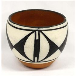 Santo Domingo Pottery Jar by Vickie T. Calabaza