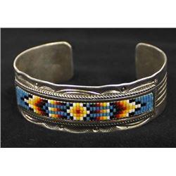 Vintage Navajo Sterling and Bead Bracelet