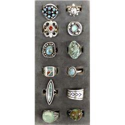 Vintage Native American Navajo Sterling Rings