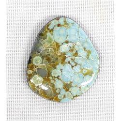 Nevada #8 Spiderweb Turquoise Cabochon, 22 Carats