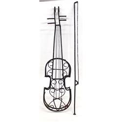Violin & Bow Metal Art