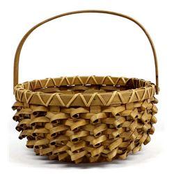 Large Native American Penobscot Porcupine Basket