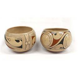 2 Mata Ortiz Polychrome Pottery Jars by Villalba