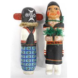 2 Vintage Native American Hopi Kachinas