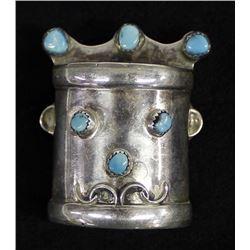 Vintage Navajo Sterling Turquoise Kachina Pendant
