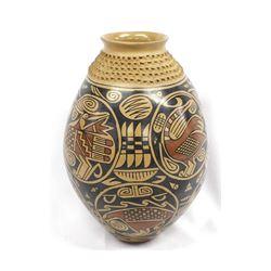 Mata Ortiz Polychrome Pottery Jar, Daniel Gonzalez