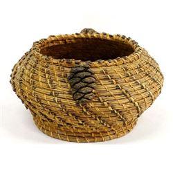 Native American Coushatta Pine Needle Basket