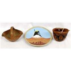 3 Pieces of Native American Pottery