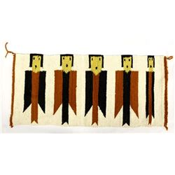 Native American Navajo Yei Textile Rug