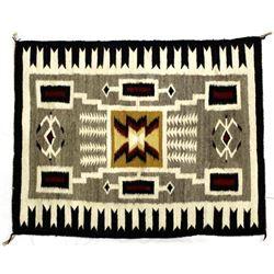 Navajo Wool Textile Rug by Marie Attakai
