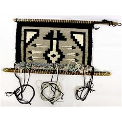 The Beginning of a Navajo Wool Textile Rug
