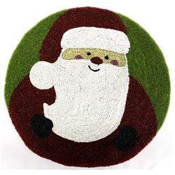 Beautiful Beaded Santa Claus Decor