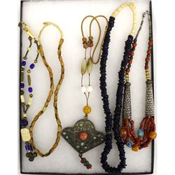 5 African Beaded Necklaces